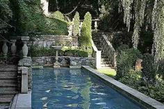 The World According to Isa: The Gorgeous World of Michael Trapp Garden Pool, Water Garden, Sunken Garden, Beautiful Landscapes, Beautiful Gardens, Casa Steampunk, Outdoor Spaces, Outdoor Living, Roman Garden