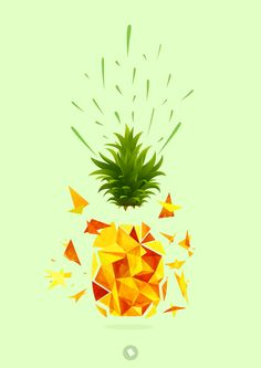 La Biscotterie / Ananas by Patricia Therrachon, via Behance