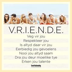 <3 Afrikaans Quotes, True Words, Friendship Quotes, Cute Pictures, Humor, Life, Fabric Dolls, Besties, Girlfriends
