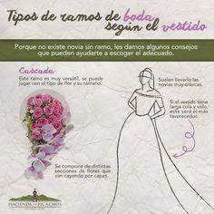 ¿Cómo debe ser el ramo según el vestido? #haciendalospicachos #boda #ramo #mezclaperfecta #weddingtips