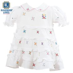 $54 Adorably little, the traditional dress is a 100% handmade out of natural materials. If you were looking for a healthy way to dress your child, this is the way to go Natural Materials, Traditional Dresses, Cross Stitch Embroidery, Your Child, Little Ones, Children, Kids, Needlework, Healthy