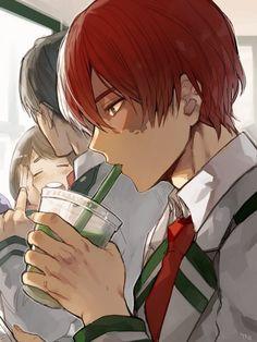 My Hero Academia (僕のヒーローアカデミア) - Shouto Todoroki (轟 焦凍) Manga Anime, Fanarts Anime, Anime Neko, Kawaii Anime, Anime Art, My Hero Academia Episodes, My Hero Academia Memes, Hero Academia Characters, Anime Characters