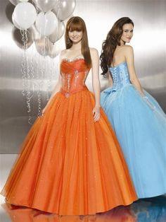 I always wanted an orange prom dress. Never happened.