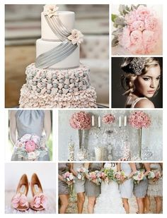 #Wedding Color Palette: Pink and Grey
