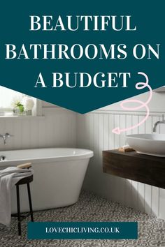 Beautiful bathrooms don't have to be expensive! These bathroom design ideas will show you how to give your bathroom a budget makeover to achieve the look you want without spending a small fortune. Get stylish bathroom ideas for some simple changes that will make a big difference #lovechicliving Family Bathroom, Budget Bathroom, Bathroom Ideas, Beautiful Bathrooms, Budgeting, Design Ideas, Create, Stylish, Big
