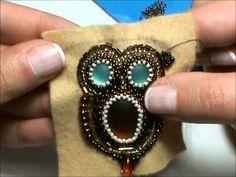 Tutorial gufo embroidery e peyote circolare (2/2) - cucire perline sul feltro