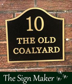 """A cast bronze house sign from The Sign Maker. This beautiful bronze plaque was cast in one peice and measured 12"""" x 12"""" (300mm x 300mm) Bronze is expensive but the result is amazing and will add class to any property. Ref 2106.ANG.018 Metal House Signs, Sign Maker, House Numbers, Metal Casting, Home Signs, Clear Acrylic, Old Things, It Cast, Bronze"""