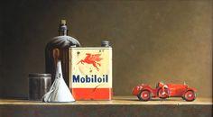 Stefaan Eyckmans   OIL   Mobiloil Tin and Toy Car