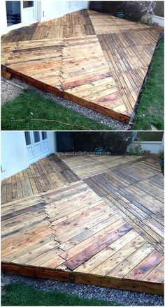 wooden pallets garden terrace project
