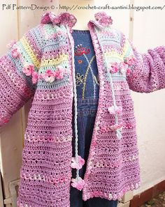 Ravelry: Romantic Summer Cardigan with Flowers pattern by Ingunn Santini