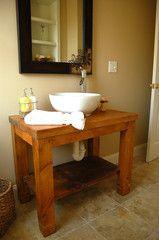 The Lorimer Workshop: Custom Farm Tables - Bathroom vanity. $775.00 !