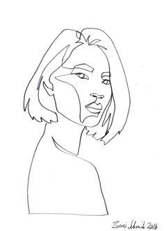 """Gaze 469″, continuous line drawing by Boris Schmitz"