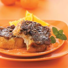 Upside-Down Orange French Toast...decadent and next on the New Year's breakfast menu...