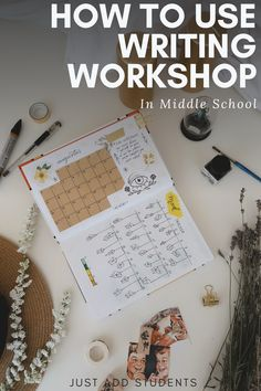 Struggling writers?  Writing workshop is a great way to meet your students where they are -- and improve their writing skills.  This post includes mini lessons, lesson planning help, and a free guide.  Perfect for middle school distance learning and differentiation.  #justaddstudents #writingworkshop #writing
