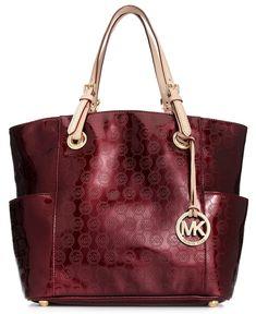 MICHAEL Michael Kors Handbag, Signature Patent East West Tote - Shop All - Handbags & Accessories - Macy's