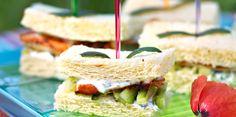 Sandwichs poulet tandoori et concombre