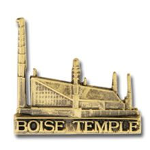 Boise Temple Pin in Gold - $4.95