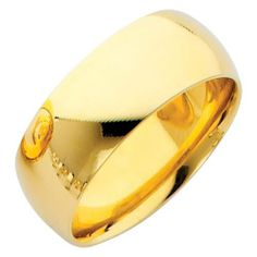 14K Yellow Gold 8mm COMFORT FIT Plain Wedding Band Ring for Men & Women (Size 5 to 12) The World Jewelry Center. $463.00. High Polished Finish. Promptly Packaged with Free Gift Box and Gift Bag