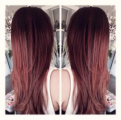Deep Rose Gold Balayage by Brooke Krum at Tress Salon and Spa 559.395.4402
