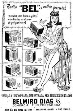 Anúncio de Rádio Bel, Estadão, 1947