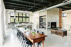 kitchen for loft, industrial style