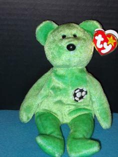 fcbaa5356e4 Ty Beanie Baby Kicks Bear With Tag Errors RARE Retired 1998   1999