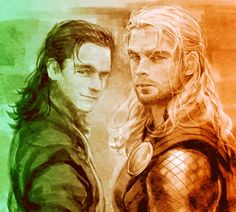 Loki and Thor by Junseo(峻曙)