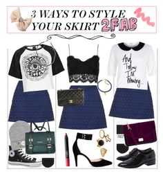 """""""3 WAYS TO WEAR YOUR SKIRT :) - TIPS"""" by costina-raftu ❤ liked on Polyvore featuring bellezza, Topshop, Illustrated People, Victoria's Secret, River Island, Brandy Melville, H&M, Chanel, Ganni e ASOS"""