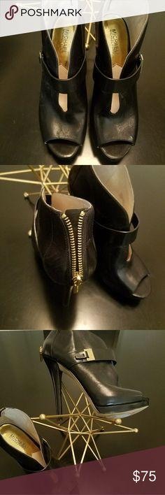 Michael Kors ??Brand New Leather Michael Kors w/ zip?? w/o box Michael Kors  Shoes Heels