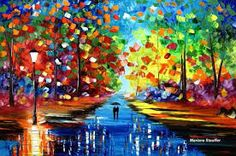 couple in rain painting - Google Search