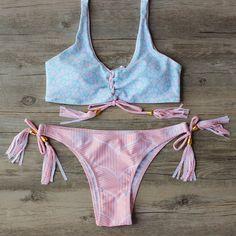 Sexy Push Up Swimsuit Brazilian Bikini Set #bikini #swimsuits #swimwear