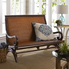 Cebu Plantation Settee - Tobacco Brown