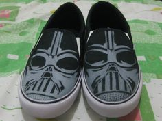 "It's Darth Vader Handmade Painting Shoes ""You can order your own special custom design""  For more info please visit our Instagram profile @kustommadeindonesia"