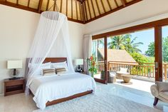 Furnished with a king bed, it has a wraparound balcony