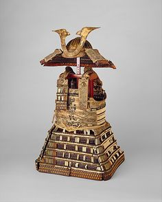 Armor (Yoroi)  Date: early 14th century Culture: Japanese Medium: Lacquered iron and leather, silk, stenciled leather, gilt copper