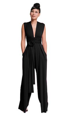 Im loving this whole line. SIGNATURE : Jersey Wrap Pantsuit : Butter By Nadia