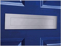 Bon Satin Brushed Stainless Steel Contemporary Door Mail Slot (small) 11.8