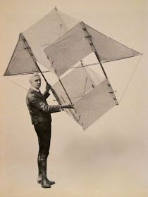 """Walter Brook holding a """"Jibbed box kite"""" early Wally and his brother Thomas formed """"Brookite"""" Kite Surf, Go Fly A Kite, Kite Flying, Kite Designs, Box Kite, Wind Sculptures, Isometric Design, Water Photography, Modern Art"""