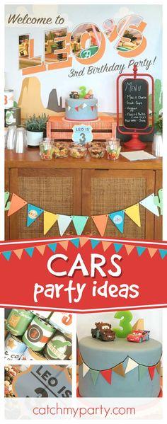Pixars Cars Party Theme Birthday Leos 3rd