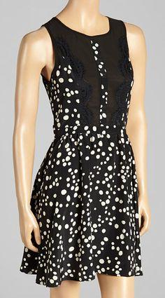 Black Dot Sleeveless Dress