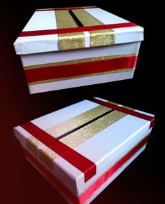 box for envelopes - gold, white and of course my favourite red <3
