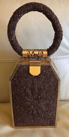 12857e6469 Stunning Vintage Rare Beaded Signed Tyrolean NY Jewel Box Bag. MINT   Tyrolean  JewelleryBox