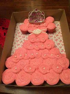 Princess Pull a apart Cupcake Birthday Cake