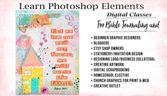 """This is an answer to prayer! You've all been asking for the tutorials and I have been overwhelmed at making all the """"how to"""" videos. To teach the Photoshop Elements basics and Bible Journaling would take more than six months preparation!But now I have a solution and you can start classes TODAY! And retrain access …Read more..."""