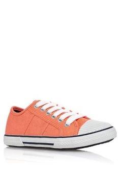 Boys Orange Lace Up shoes