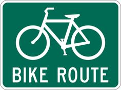 bicyle street art | Bicycle Route Sign clip art - vector clip art online, royalty free ...