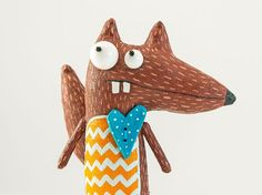 Smart squirrel by MarLitoys on Etsy