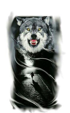 The save man Wolf Tattoos Men, Native Tattoos, Animal Tattoos, Wolf Tattoo Design, Wolf Design, Celtic Wolf Tattoo, Tattoo Wolf, Tattoo Studio, Watercolor Wolf Tattoo