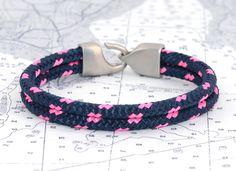 Lemon and Line Bristol Navy & Hot Pink bracelet