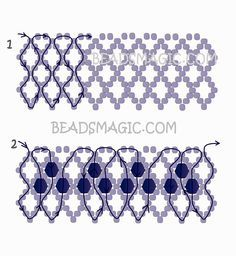Free pattern for necklace Matilde
